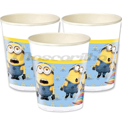 Copos Lovely Minions 8 unid