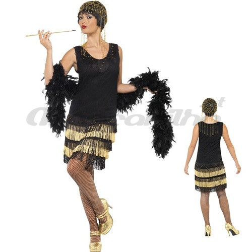 Fato Fringed Flapper Anos 20