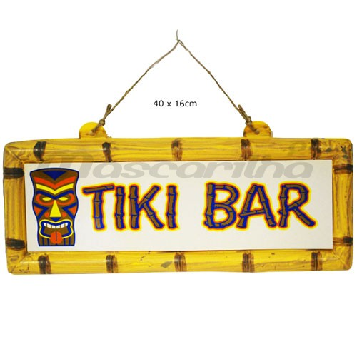 Placa Tiki Bar Havaiano
