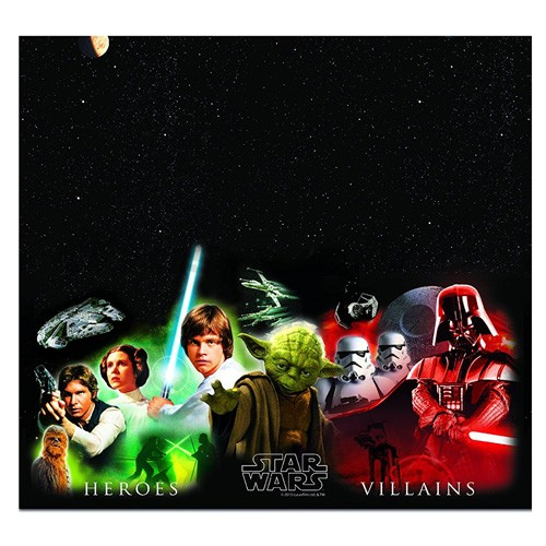 Toalha Mesa Star Wars Heroes and Villans